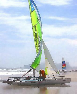 Yacht Mixed Media - Brigantine Hobies II by Paul Barlo