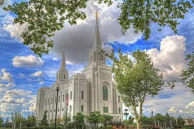 Photograph - Brigham L D S Temple by Donna Kennedy
