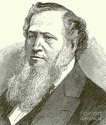 Drawing -  Brigham Young  Engraving by English School