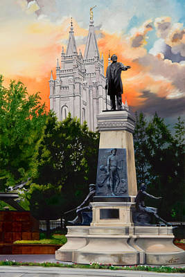 Brigham Young Monument Original by Lester Nielsen
