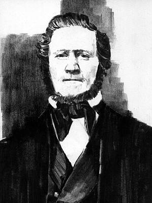 Drawing - Brigham Young by Paul Sachtleben