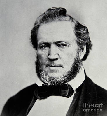 Photograph - Brigham Young  Second President Of The Mormon Church by American School