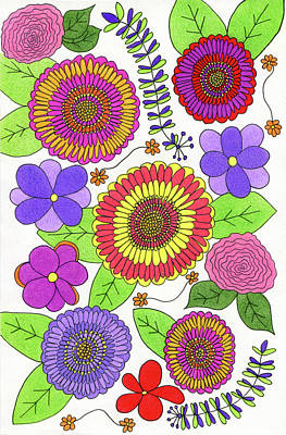 Daisy Drawing - Bright And Cheery Flower Design by Lisa Blake
