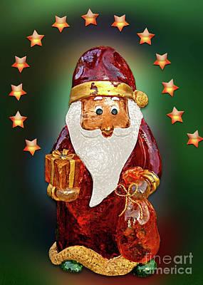 Digital Art - Bright And Shiny Santa by Gabriele Pomykaj
