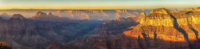 Photograph - Bright Angel Morning Panorama by David Cote