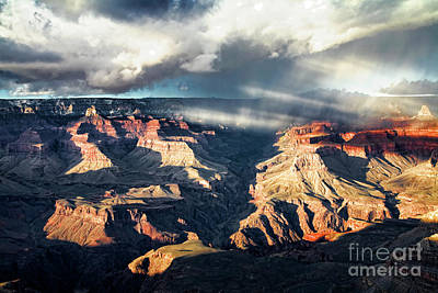 Photograph - Bright Angel Storm by Scott Kemper