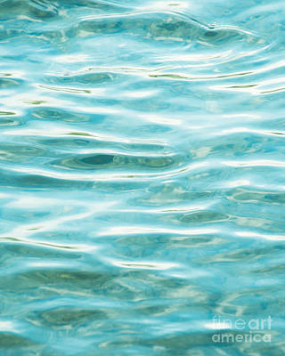 Photograph - Bright Aqua Water Ripples by Jim and Emily Bush