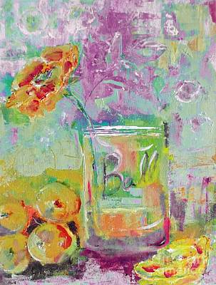 Digital Art - Bright Bale Jar Still Life Painting by Lisa Kaiser