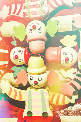 Bright Colours Photograph - Bright Beaming Clown Show Act by Jorgo Photography - Wall Art Gallery