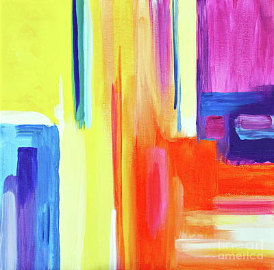 Painting - Bright Blocks  by Expressionistart studio Priscilla Batzell