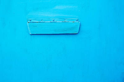 Bright Blue Paint On Metal With Postbox Art Print by John Williams