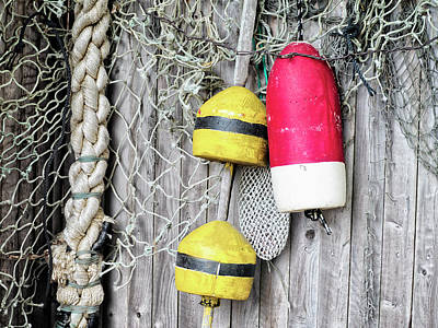 Photograph - Bright Buoys I by Marianne Campolongo