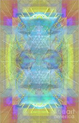Digital Art - Bright Chalice Ancient Symbol Tapestry by Christopher Pringer