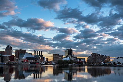 Bright Clouds Over Baltimore Art Print by Jim Archer