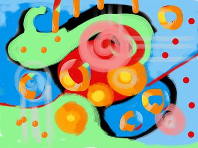 Digital Art - Bright Colored Abstract by Susan Stone