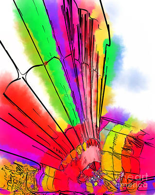 Digital Art - Bright Colored Balloons by Kirt Tisdale