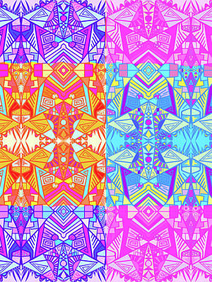 American West - Bright Colorful Psychedelic Pattern 4 by Shawn Ballard