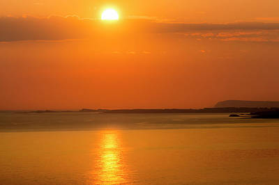 Photograph - Bright Dawn Orb On Portrush,portstewart by Glen Sumner