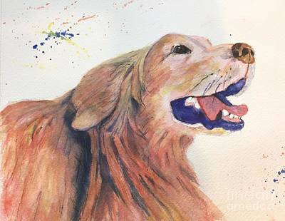 Painting - Bright Dog by Lucia Grilletto