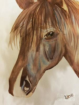 Painting - Bright-eyed Filly by Maria Urso