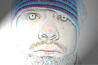 Trippy Digital Art - Bright Face by Joshua Sunday
