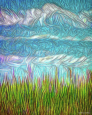 Digital Art - Bright Fields - 2 Of 3 by Joel Bruce Wallach