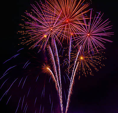 Photograph - Bright Flashes Of Fireworks by Garry Gay
