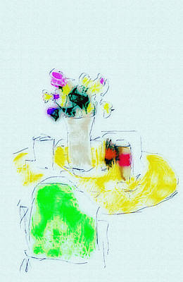 Digital Art - Bright Flowers by Charles McChesney
