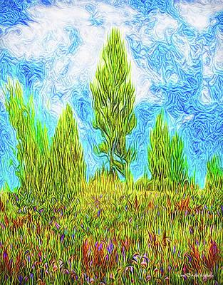 Digital Art - Bright Hill Horizons by Joel Bruce Wallach