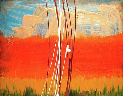 Mystical Landscape Painting - Bright Horizon by Melody Dawn Germain