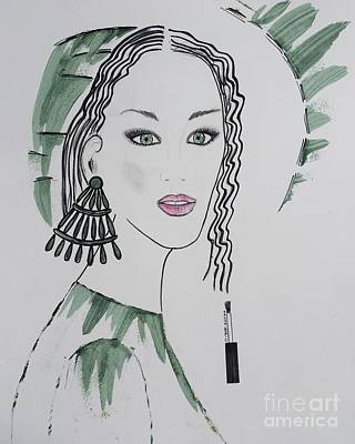 Bright Lady Art Print