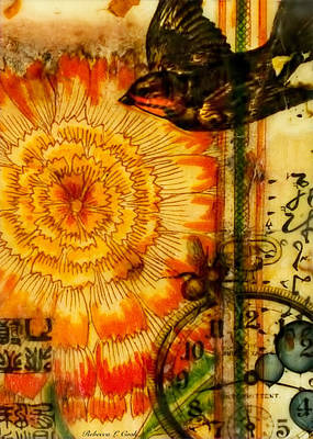 Painting - Bright Life Encaustic by Bellesouth Studio