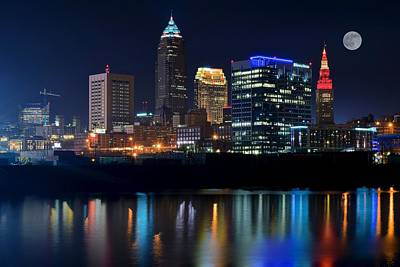 Lebron Photograph - Bright Lights City Nights by Frozen in Time Fine Art Photography