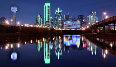Photograph - Bright Lights In Big D by Frozen in Time Fine Art Photography