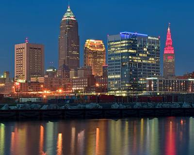 Athletes Royalty-Free and Rights-Managed Images - Bright Lights in Cleveland by Frozen in Time Fine Art Photography
