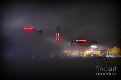 I Love Canada Photograph - Bright Lights In The Fog by Sheila Lee