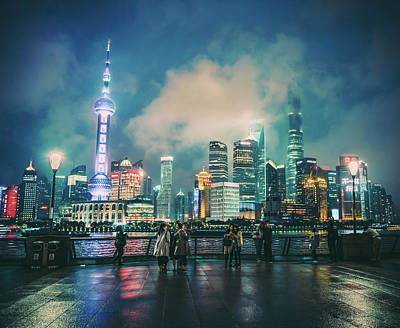 Art Print featuring the photograph Bright Lights Of Pudong by Nisah Cheatham