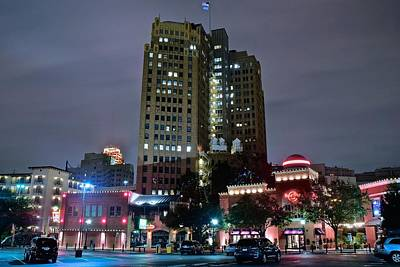 Photograph - Bright Lights Of San Antonio by Frozen in Time Fine Art Photography