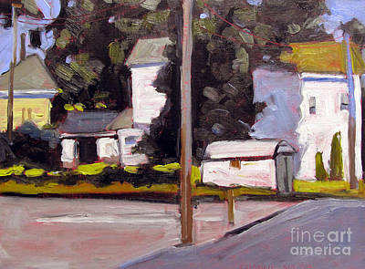 Brilliant Painting - Bright Morning Apartments by Charlie Spear