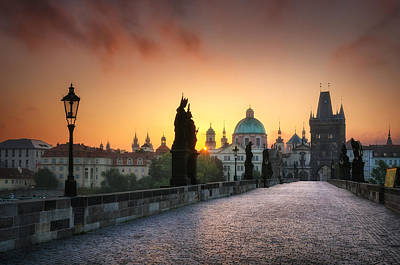 Bright Morning In Prague, Czech Republic Art Print