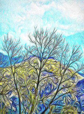 Digital Art - Bright Mountain Sunday by Joel Bruce Wallach