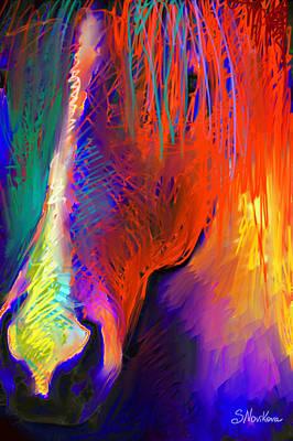Svetlana Novikova Art Digital Art - Bright Mustang Horse by Svetlana Novikova