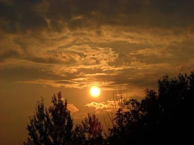 Photograph - Bright Orange Late July Sunrise by Kent Lorentzen