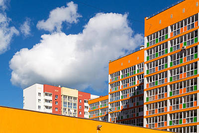 Photograph - Bright Orange Modern Housing Apartments by John Williams
