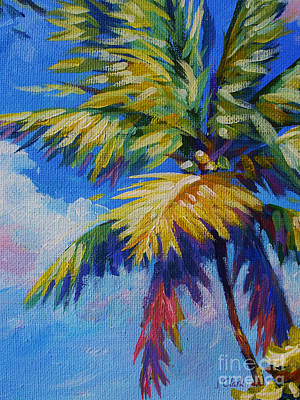 Beach Towns Painting - Bright Palm by John Clark