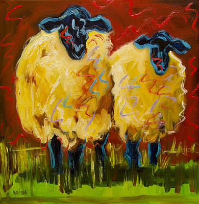 Painting - Bright Party Sheep by Diane Whitehead