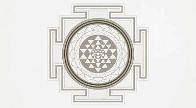 Drawing - Bright Pastel Tone Large Mandala Art - Sunny Mind by Wall Art Prints