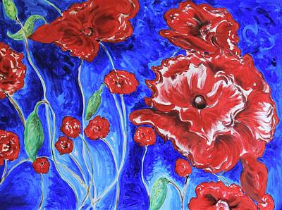 Painting - Bright Poppies by Carrie Godwin