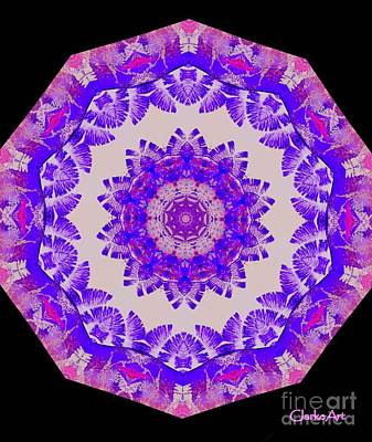 Concentration Digital Art - Bright Purple And Pink Mandala by Jean Clarke