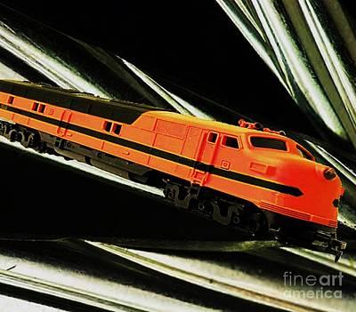 Painting - Bright Red Locomotive by Belinda Threeths